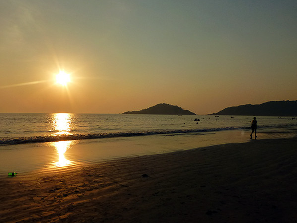 Sunset on Palolem Beach (Goa)
