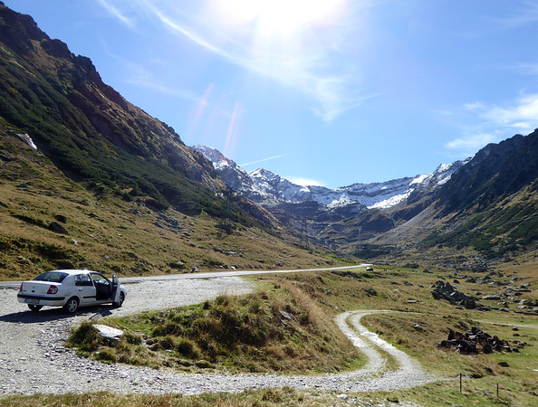 Stop along the Transfagarasan