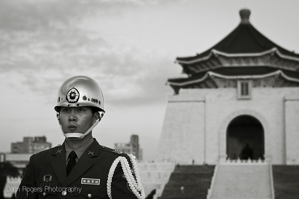 A member of a flag ceremony team.