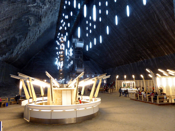 View of main cavern - Turda Salt Mine