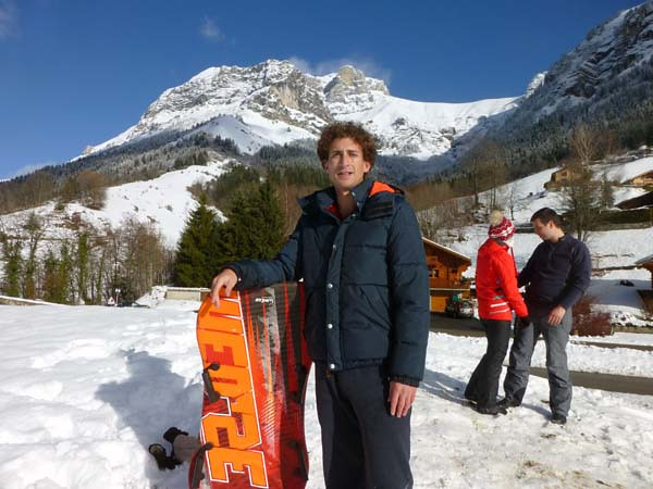 Sledding in Annecy, France