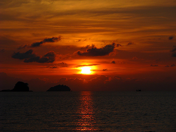 Beach Sunset in SE Asia