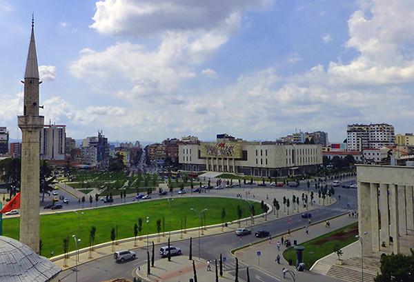 Clock Tower In Albania - Skanderbeg Square, Tirana, Albania