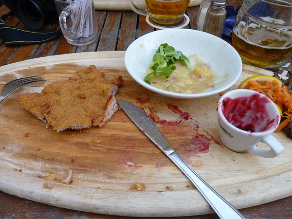 Largest Wiener Schnitzel on the planet