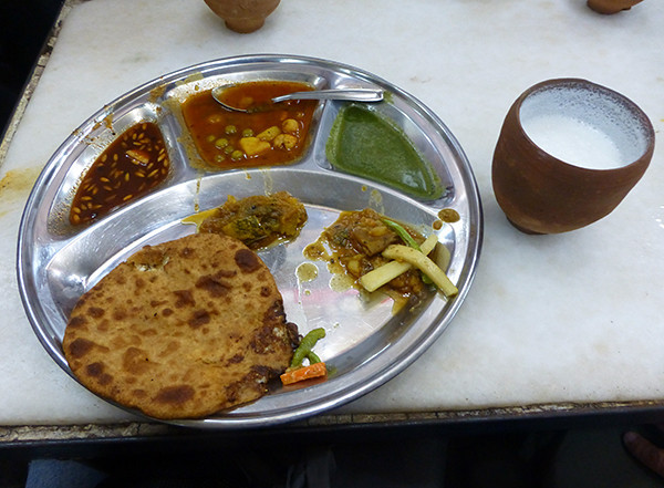 Eating Paranthas in Delhi