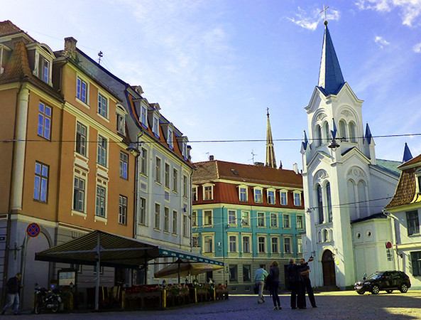 Square in Riga, Latvia