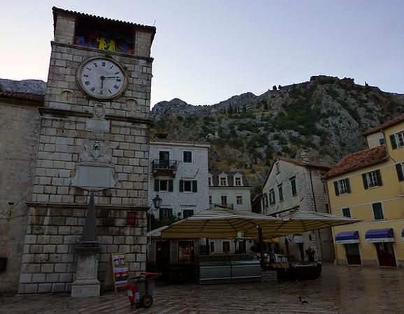 Plaza in Kotor, Montenegro