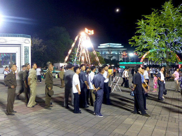 Koreans at the Fun Fair, Pyongyang, North Korea