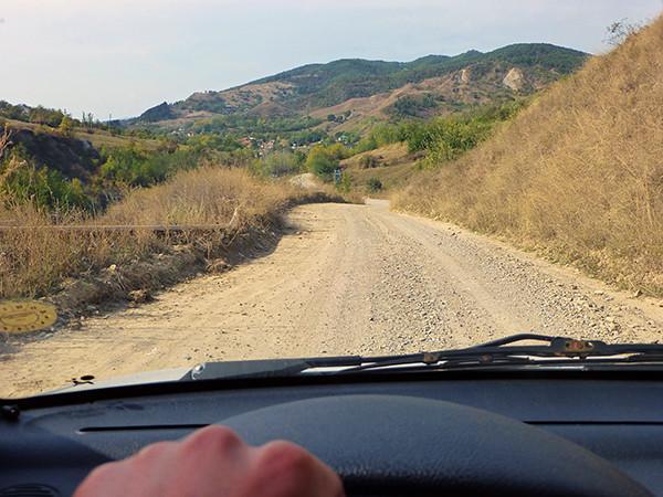 Dirt road in Romania
