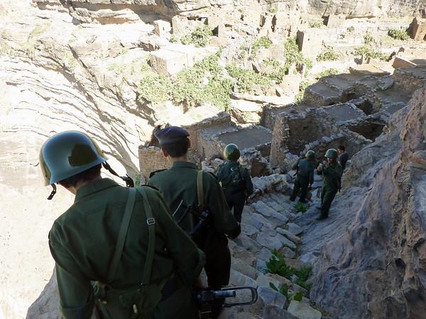 Soldiers at Al-Zakati Fort