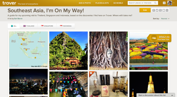 Trover - Southeast Asia List
