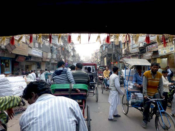 View from Rickshaw in Delhi