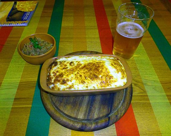 Meal at La Placinte, Chisinau